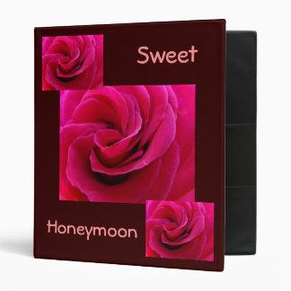 Rosa dulce del álbum de foto de la carpeta de la