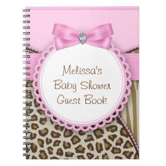 Rosa dulce del safari y libro de visitas de la fie note book