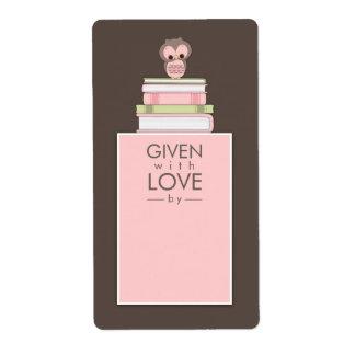 Rosa dulce el | Brown de la etiqueta del nombre de Etiquetas De Envío