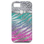 Rosa duro del brillo de la joyería del compañero d iPhone 5 carcasas