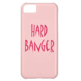 Rosa duro del llano del Banger Funda Para iPhone 5C