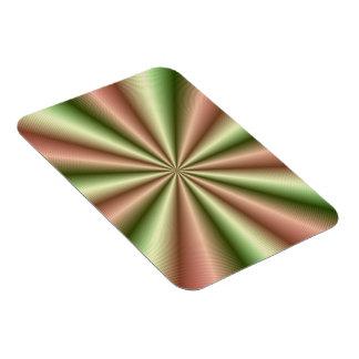 Rosa e imán proveído de costillas verde de la foto