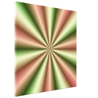 Rosa e impresión proveída de costillas verde de la lona estirada galerias