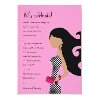 rosa elegante de la INVITACIÓN el | del