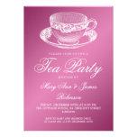 Rosa elegante de la taza de té del vintage de la f