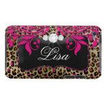 Rosa elegante del negro de la cubierta de iPod Bar iPod Touch Case-Mate Coberturas