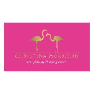 Rosa elegante del planificador de eventos de los plantilla de tarjeta de negocio