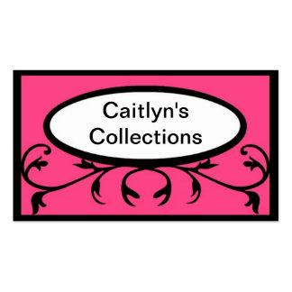 Rosa elegante en negro plantillas de tarjetas personales