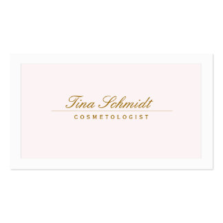 Rosa elegante simple 2 del balneario y del salón d plantilla de tarjeta de negocio