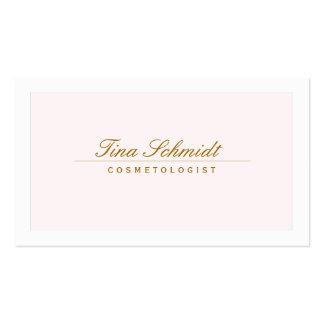 Rosa elegante simple 2 del balneario y del salón tarjetas de visita