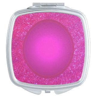 Rosa en colores pastel 3b brillante del espejo espejos de viaje