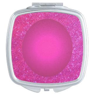 Rosa en colores pastel 3c brillante del espejo espejos de maquillaje