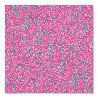Rosa en colores pastel de moda de Swirly y extract Arte Con Fotos