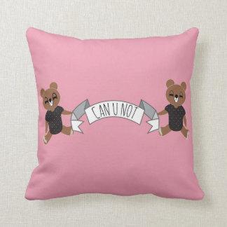 Rosa en colores pastel divertido de Cub de oso de Cojín Decorativo