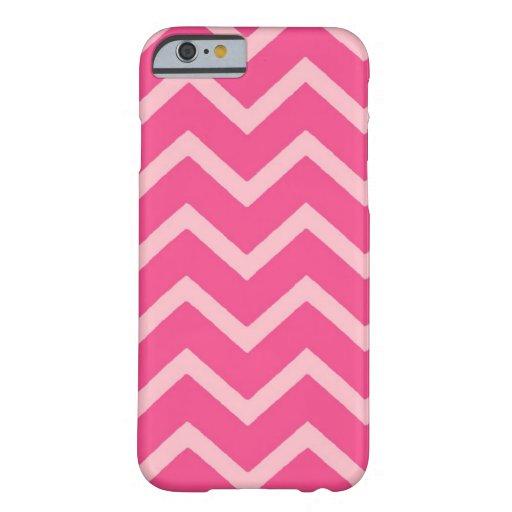 Rosa en el caso rosado del iPhone 6 del galón del Funda De iPhone 6 Barely There