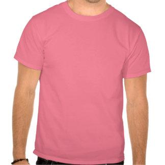 Rosa en la pista camisetas
