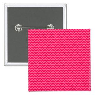 Rosa en la raya rosada de Chevron Pin Cuadrado