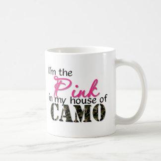 Rosa en mi casa de Camo Taza De Café