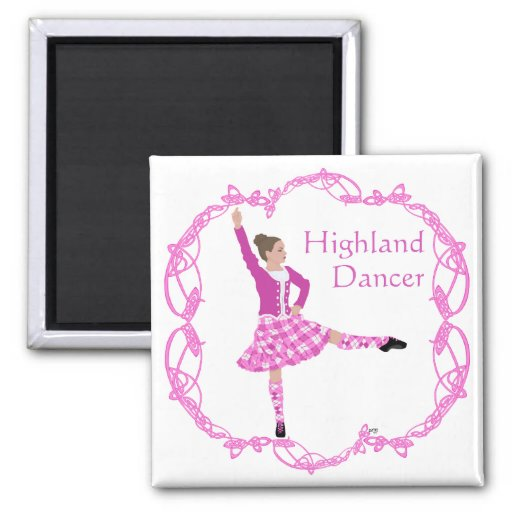 Rosa escocés de Knotwork del Celtic del bailarín d Iman Para Frigorífico