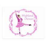Rosa escocés de Knotwork del Celtic del bailarín Postal