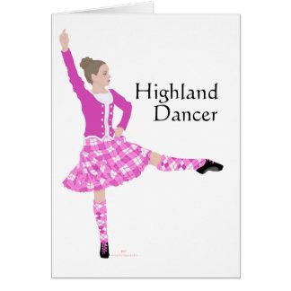 Rosa escocés del bailarín de la montaña tarjeta de felicitación