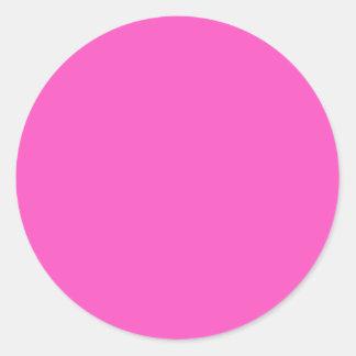 ¡Rosa! Etiqueta Redonda