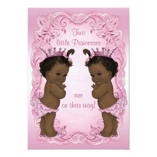 Rosa étnico de la fiesta de bienvenida al bebé de invitación