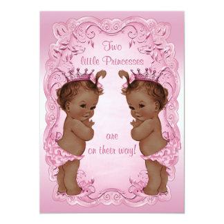 Rosa étnico de la fiesta de bienvenida al bebé de invitación 12,7 x 17,8 cm