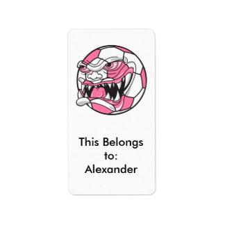 rosa extremo malo enojado de los chicas del balón etiqueta de dirección
