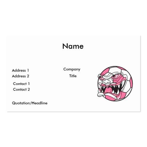 rosa extremo malo enojado de los chicas del balón  plantilla de tarjeta de negocio