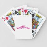 Rosa feliz maravilloso del humanista cartas de juego