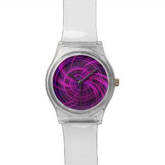 Rosa feliz, negro (c) reloj