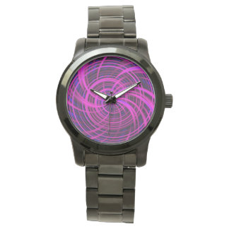 Rosa feliz, negro (c) relojes de mano