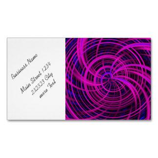 Rosa feliz, negro (c) tarjetas de visita magnéticas (paquete de 25)