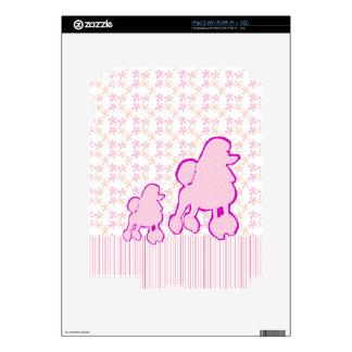 Rosa femenino del caniche de moda moderno del calcomanías para iPad 2