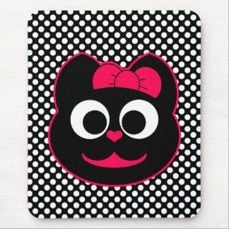 Rosa femenino del gato del gatito mouse pad