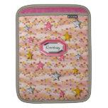 Rosa femenino lindo de la diversión con el caso de fundas para iPads