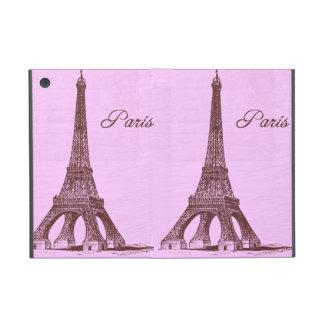 Rosa femenino París del vintage iPad Mini Fundas