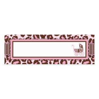 Rosa flaco A de la tarjeta de regalo del chica del Tarjetas De Visita Mini
