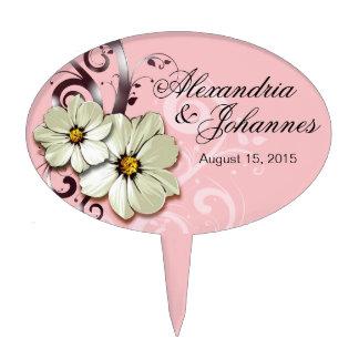Rosa floral adornado del Flourish el | del PRIMERO Figura De Tarta