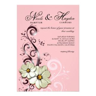 Rosa floral adornado del monograma el del