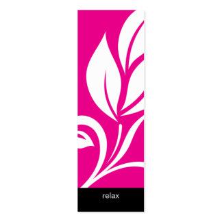 Rosa floral de la flor de la hoja intrépida del ba tarjeta de visita
