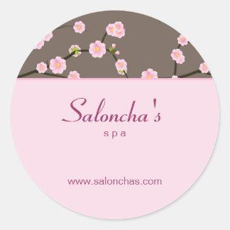 Rosa floral del pegatina de la flor de cerezo del