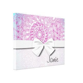 rosa floral enrrollado de la turquesa del modelo d lona estirada galerías