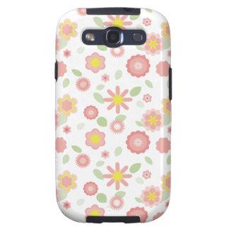 Rosa Floral-polvoriento simple Galaxy S3 Cobertura