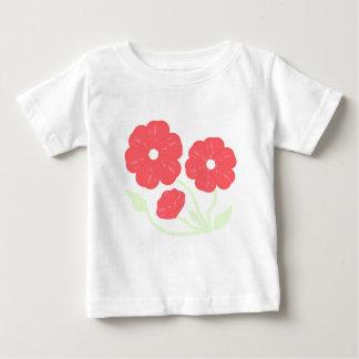 Rosa floral retro playera
