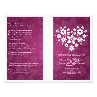 Rosa florido de la baya del corazón del programa tarjetas publicitarias