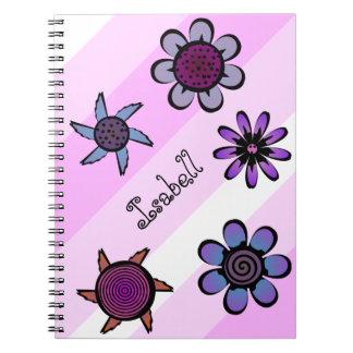 Rosa florido libros de apuntes