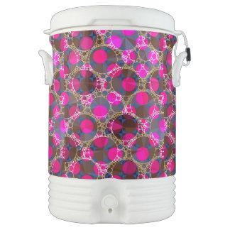 Rosa fluorescente POP Bling Refrigerador De Bebida Igloo