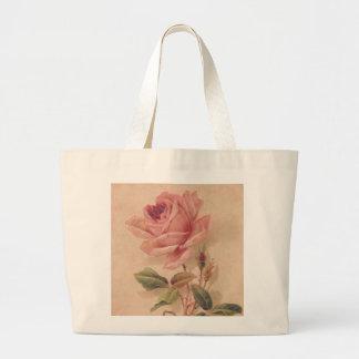 Rosa francés del Victorian subió Bolsas Lienzo